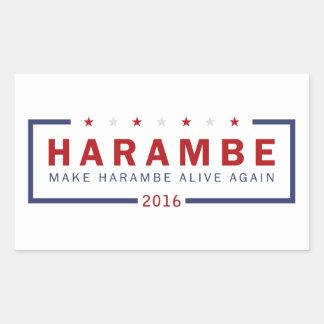 Machen Sie Harambe lebendig wieder Rechteckiger Aufkleber