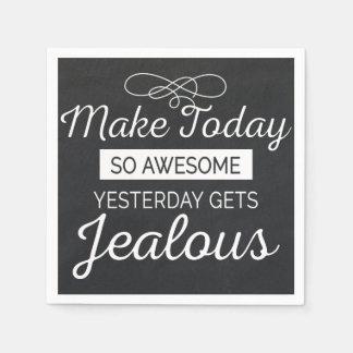 Machen Sie heute fantastisches motivierend Serviette