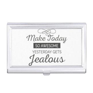Machen Sie heute fantastisches motivierend Zitat Visitenkarten Dose