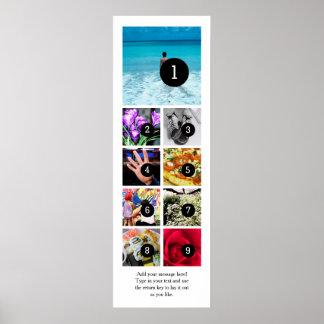 Machen Sie Ihr eigenes Foto-Plakat mit 9 Bildern + Poster