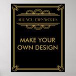 Machen Sie Ihr eigenes Kunst-Deko Gatsby Plakat