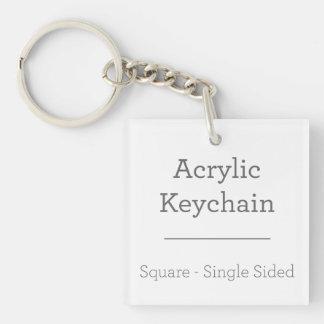 Machen Sie Ihr eigenes quadratisches Keychain Schlüsselanhänger