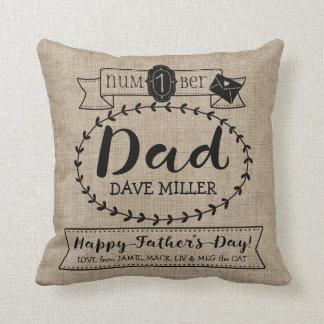 Machen Sie Ihre eigene der Vatertags-Zahl 1 Kissen