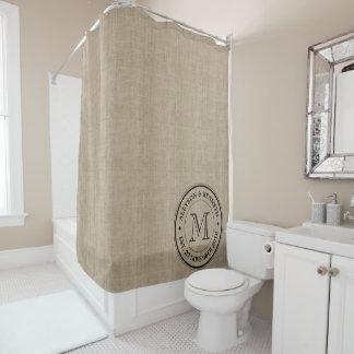Machen Sie Ihre eigene Leinwand Retro Duschvorhang