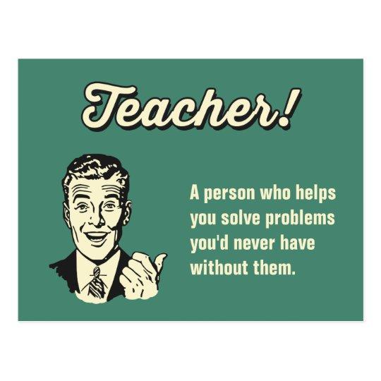 Machen Sie Ihre Eigene Lustige Lehrer Definition Postkarte Zazzle De