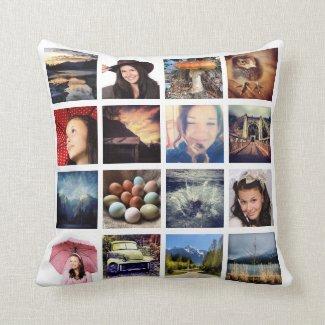 Machen Sie Ihre eigenen 32 Instagram Foto-Collage Zierkissen