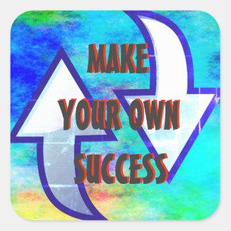Machen Sie Ihre eigenen Erfolgs-Aufkleber Quadratischer Aufkleber
