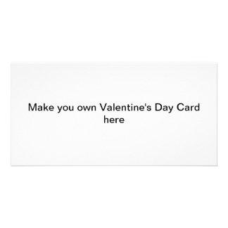 Machen Sie Ihre eigenen Valentinstag-Karten Individuelle Foto Karten