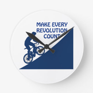 Machen Sie jede Revolutionszählung Runde Wanduhr