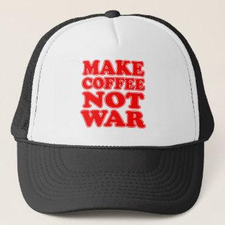 Machen Sie Kaffee-nicht Krieg Truckerkappe