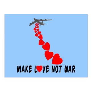 Machen Sie Krieg der Liebe nicht Postkarte