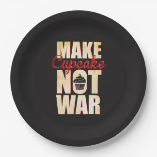Machen Sie Krieg des kleinen Kuchens nicht Pappteller