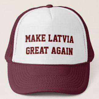 Machen Sie Lettland groß wieder Truckerkappe