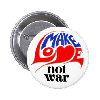 Machen Sie Liebe-nicht Krieg Runder Button 5,7 Cm