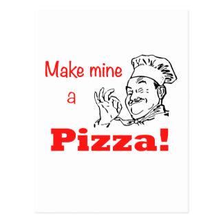 Machen Sie meine eine Pizza! Postkarte