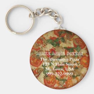 Machen Sie meine Pizza! Kundengerechter Text Schlüsselanhänger