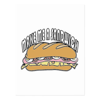 Machen Sie mich ein Sandwich Postkarte
