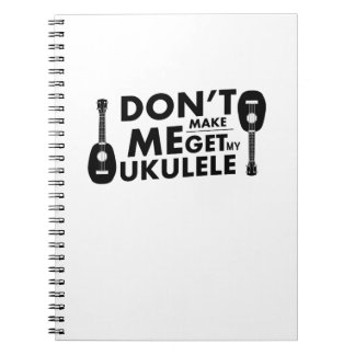 Machen Sie mich Ukulele Uke Notizblock
