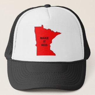 Machen Sie Minnesota-Rot Truckerkappe