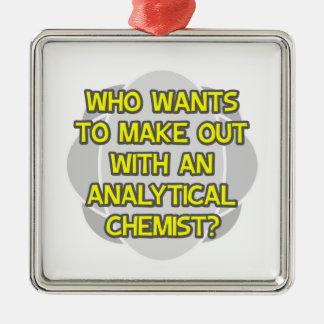 Machen Sie mit einem analytischen Chemiker aus Ornament