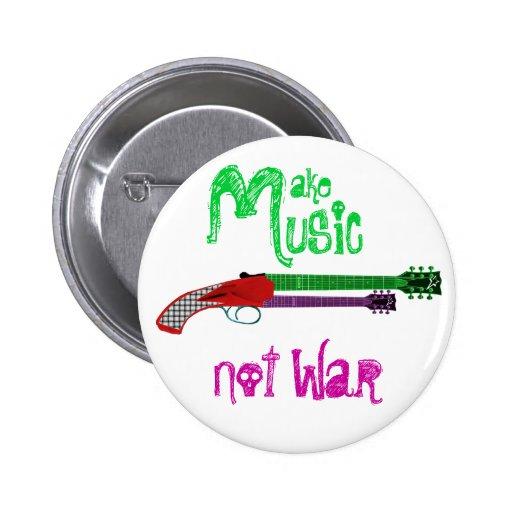 Machen Sie Musik-nicht Krieg Anstecknadel