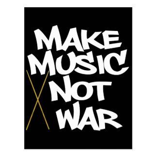 Machen Sie Musik-nicht Krieg (Trommeln) Postkarte