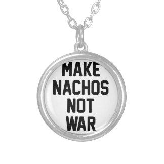 Machen Sie Nachos-nicht Krieg Versilberte Kette
