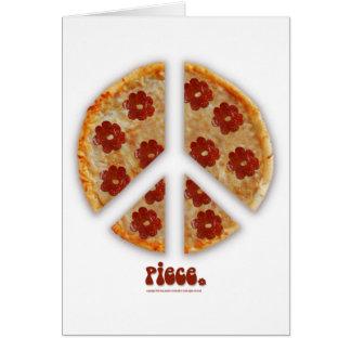 """""""Machen Sie Pizza, nicht Kriegs-"""" Gruß-Karten Karte"""