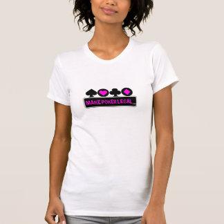 Machen Sie Poker legale Damen rosa Anzugs-T-Stück T-Shirt