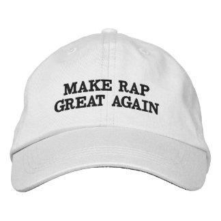 Machen Sie Rap groß wieder mit diesem trendy Hut! Bestickte Baseballmützen