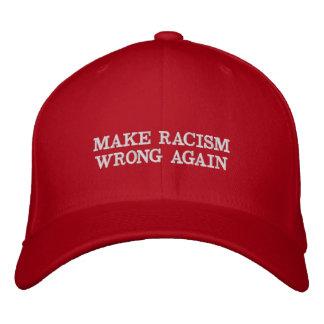 Machen Sie Rassismus-Unrecht wieder Bestickte Kappe
