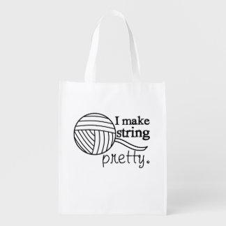 Machen Sie Schnur hübsches Garn/Handwerk Wiederverwendbare Einkaufstasche