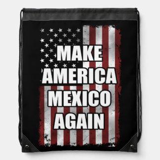 Machen Sie Shirt   Amerikas Mexiko wieder lustiges Turnbeutel