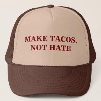 Machen Sie Tacos, nicht Hass Truckerkappe
