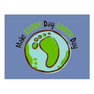 Machen Sie täglichen Tag der Erde Postkarte