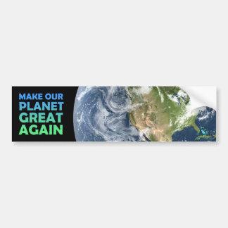 Machen Sie unseren Planeten groß wieder Autoaufkleber