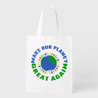 Machen Sie unseren Planeten groß wieder Wiederverwendbare Einkaufstasche