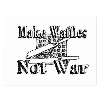 MACHEN Sie WAFFELN, nicht Krieg Postkarte
