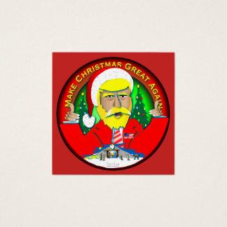 Machen Sie Weihnachten groß wieder Quadratische Visitenkarte