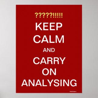 Machen Sie weiter, motivierend Analytiker-Slogan z Poster