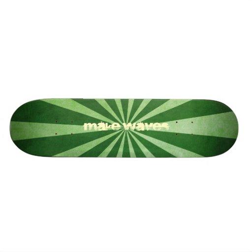 Machen Sie Wellen grünes Turbulenz-Skateboard Personalisiertes Deck