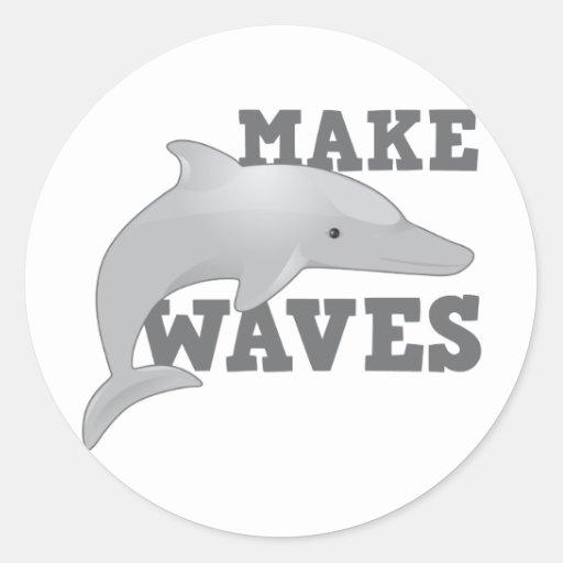 machen sie wellen mit delphin stickers zazzle. Black Bedroom Furniture Sets. Home Design Ideas