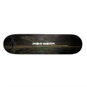 Machen Sie Wellen Sonnenuntergang Surfer Skateboar 18,4 Cm Mini Skateboard  Deck