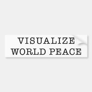 Machen Sie WeltfriedensAutoaufkleber sichtbar Autoaufkleber