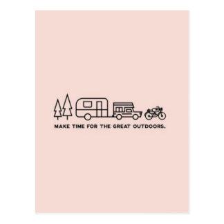 Machen Sie Zeit für die Natur-Postkarte Postkarte