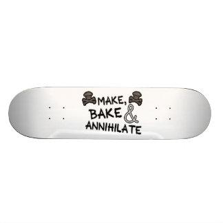 Machen Sie zu backen u. zu vernichten Skateboarddeck