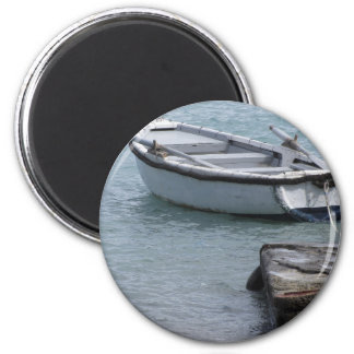 Machte hölzernes Rudersportboot des Singles in Runder Magnet 5,1 Cm