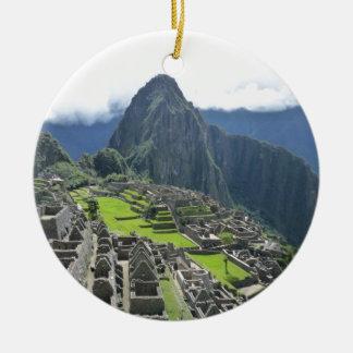 Machu Picchu Keramik Ornament