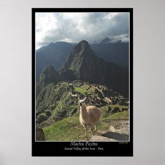 Machu Picchu Plakat (sieben Wunder der Welt)