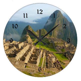 Machu Picchu Wanduhr mit schwarzen Zahlen